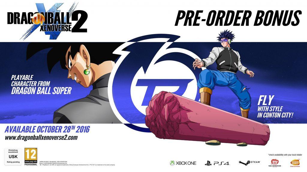 Dragon Ball Xenoverse 2 Pre order Bonus